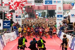 Start des Haspa Marathon 2015
